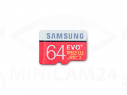 Карта памяти Samsung microSD EVO Plus 80MB/S 64GB + SD adapter